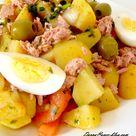 salade de pomme terre au thon et cumin - Chez Darna