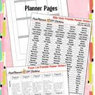 Editable Bible Journalling Planner Kit Printables, Planner Pages, Worksheet Template, Prayer & Bible Study Stickers