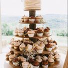 Cupcake Stand 5 Tier Rustic or Modern  (Tower Holder) 75 Cupcakes 150 Donuts Wedding Birthday Shower Anniversary Party Pastries - Wooden