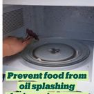 Prevent food from oil splashing during microwave heating 😍
