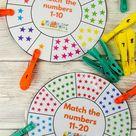 Printable number wheel cards - NurtureStore