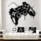 Video Game Wall Decal  Gamer Controller Wall Decal Splat   Etsy