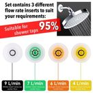 Shower Flow Reducer Limiter Set-Up To 70% Water Saving 4 6 7 9L/min For Shower Taps Bathroom Accessories 1/2 Inch - Wallcorners - Decor your Home life