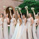 Stunning Neutral Dew Drop Bridesmaid Dresses
