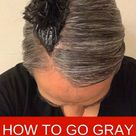 How to Use The Dye Strip Technique to Go Gray   Katie Goes Platinum