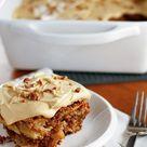 Fresh Honeycrisp Apple Cake with To-Die-For Caramel Buttercream Frosting