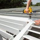 Mit Gratis Anleitung Bau dir eine Terrasse mit Holzdeck und Lamellendach