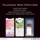 Telegram's latest update includes new chat themes, interactive emoji, and group read receipts.