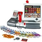 Theo Klein 9356 Toy Cash Register I With Plastic Film Keyboard, Calculator Function, Payment Terminal Including Scanner and Scales with Light and Sound Function I Dimensions: 31 cm x 15.5 cm x 23 cm