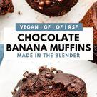 Healthy Chocolate Banana Blender Muffins   Vegan + Gluten Free