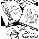 Vintage Hand Embroidery PATTERN Design 7317 Dearie is Weary for Kitchen Dish Towels 1960s Reproduction iron on embroidery transfer