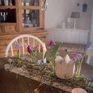 DIY Tischdeko mit Zweigen und Blumen