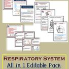 Respiratory System   Human Body   Editable Teaching Resources   Notes   Task Cards   Worksheets