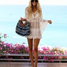 16.07US $  2019 Summer Women Sexy Lace See Through Beach Dress Casual V Neck Batwing Sleeve Loose Dress Cape Cover Mini Dress Dresses      AliExpress