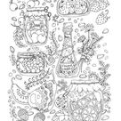Mouse Peep's House (All ages coloring book, Digital pages, Coloring book for Relaxation, Art Therapy)