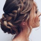 Romantic bridal hairstyle with braids