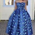Orente Luxury Ankara Kitenge African Print Kente Summer Maxi Ankara Dress