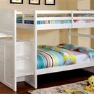 Dillon White Twin Bunk Bed with Stairway Storage