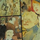1997 Royal Academy of Arts Poster, The Berlin of George Grosz, dada expressionism, artist gallery exhibition wall art 1990s