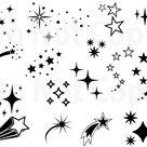 Stars SVG Bundle Star Vector Shooting Stars Svg File for   Etsy