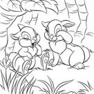 Thumper And Miss Bunny Getting Sleepy Coloring Page - Download & Print Online Coloring Pages for Free