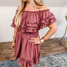 Cory Off the Shoulder Dress   M / Red