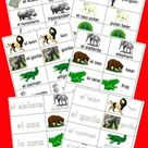 40 Free Spanish English Flashcards of Jungle Animals and 5 Fun Games for Kids   Happy and Blessed Ho
