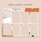 Printable Weekly Planner, Aesthetic Weekly Planner, Printable To-Do list,  Student Agenda,