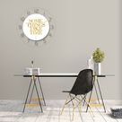Kreatives Muster Steinwanduhr Acryl Wohnzimmer Dekoration BBZ210428003