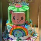 Cocomelon 2-Tier Custom Creative Birthday Celebration Cake