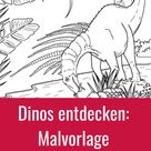 Malvorlage Bajadasaurus l kribbelbunt.de