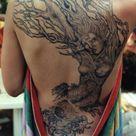 Woman Back Tattoos