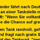 Ein Holländer fährt nach Deutschland und hält an einer Tankstelle..