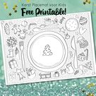Kerst placemat voor kids - free printable • Blitz Ontwerpt