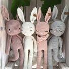 haak Bunny LUCKY, een haak speelgoed voor een pasgeboren of kind cadeau, pasgeboren foto prop of fotosessie