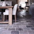 Reclaimed Grey Terracotta Flooring | De Opkamer | Antique floors and fireplaces