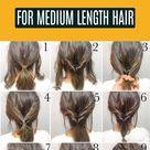 25 Einfache Alltagsfrisuren für mittellanges Haar #Frisuren #Frauen #Frisuren
