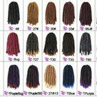 Butterfly locs Twist Passion Twist Hair 8 Inch Fluffy Spring Twist Crochet Braiding Hair Bomb Twist Spring Crochet Butterfly Locs