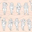 Set on the theme of body positive  Custom-Designed Illustrations