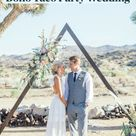 Boho Rimrock Ranch Wedding With A Taco Bar Dinner, Under The Starts! Pioneertown, CA!