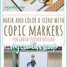 Mask and color a scene using Copic Markers - Step by Step Tutorial