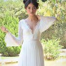 Long sleeve wedding dress Sheath wedding dress Sexy Lace | Etsy