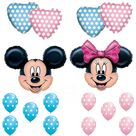 Mickey & Minnie Mouse Gender Reveal Baby Shower Balloons Decorations