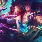 Xayah and Rakan, video game, League of Legends, 950x1534 wallpaper