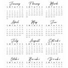 FREE Printable Bullet Journal Year at a Glance Calendar