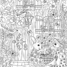 Tea Time  Printable Adult Coloring Page from Favoreads | Etsy