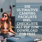 Vanlife Packliste Checkliste Camping Trip