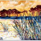 Gulf coast landscape seascape - Canvas print