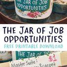 The Jar of Job Opportunities Money Jar   creatingmaryshome.com
