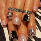 Zebra Acrylic Nails